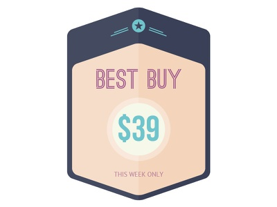 Sale badge marketing retail label pastel flat badge sale
