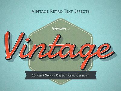 Retro Style Text distressed old style typography vintage retro text