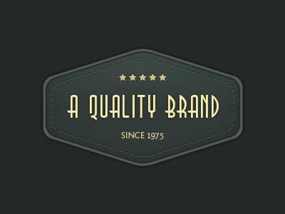 Retro style badge vintage retro texture badge logo stitches leather pattern