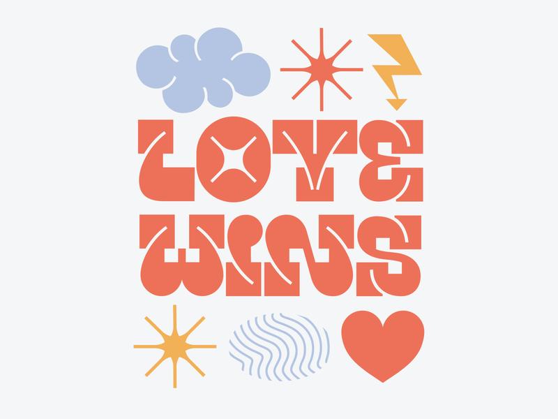 love wins type art type design typeface letter illustration font design font vector typography typo type letters lettering design