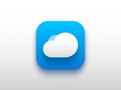 iOS Icon - Cloud App iphone application icon app cloud ios