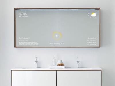 Smart Mirror — UI Weekly Challenges-Season 02 / W [6/10] intelligence artificial minimal clean ai mirror smart