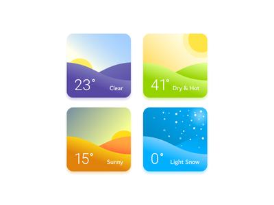 Weather Widgets ui winter autumn summer spring card widget weather