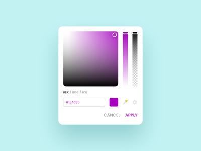 Color Picker minimal rgb hsl hex picker color