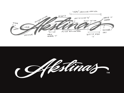 Akstinas handmade handlettering guidelines logolearn logotype graffiti urban flow logodesigner identitydesign brush typography handwritten unique process sketch logo custom calligraphy lettering