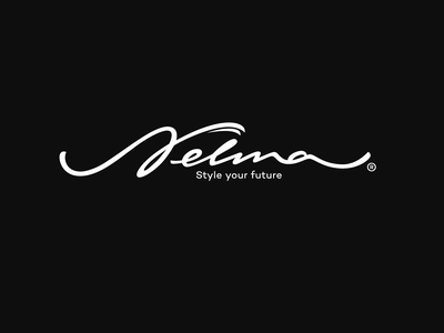 Nelma handtype fresh unique logo script flow fashion design future sustainable brush typography handwritten unique branding process sketch custom calligraphy logo nelma style