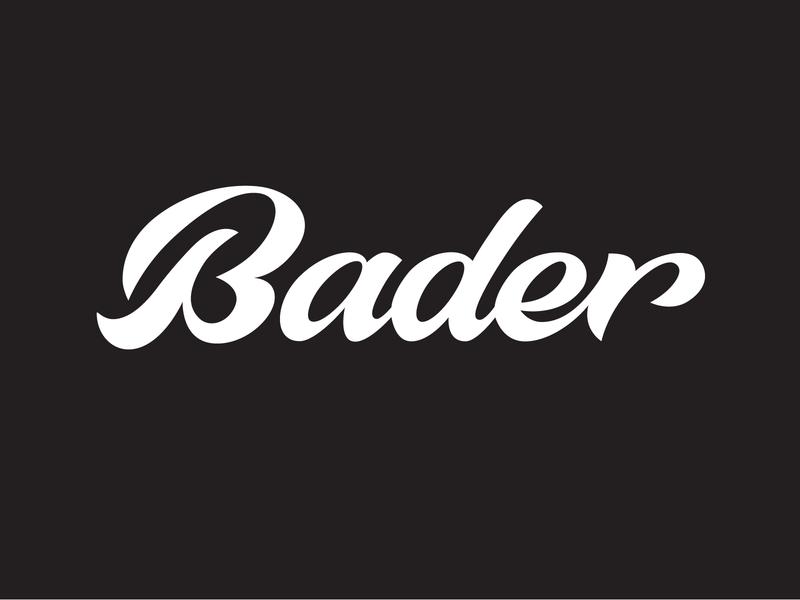 Bader handtype goodtype bader brand identity identity ux typography handwritten branding process sketch logo custom calligraphy script lettering