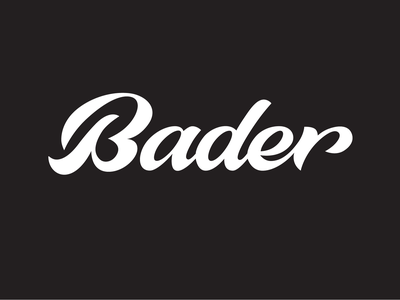 Bader handtype goodtype bader brand identity identity ux typography handwritten branding process sketch logo custom calligraphy script lettering