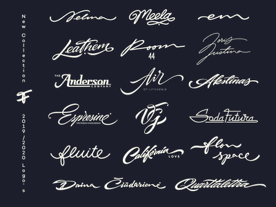 2019/2020 lettering logo's handwritten handtype graphic design behance logotype logos process sketch typography type lettering script calligraphy branding flow indentity graphicdesign collection logo