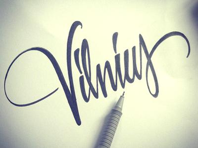 Vilnius 2 vilnius lettering type city sketch pen freelance forsuregraphic flow