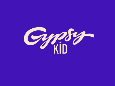 Gypsy Kid clothing brand graphicdesign fun t-shirt kids brushlettering logodesign logotype clothing gypsykid typography handwritten branding process sketch logo custom calligraphy script lettering