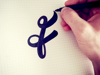 F letter mark in progress logo custom type flow sketch lettering