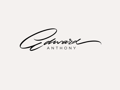 Edward Anthony zen natural sophisticated classy personal handwritten unique style signature player guitar illustration design logo calligraphy script flow lettering