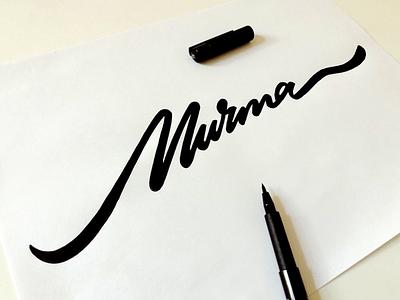 Murma dailytype brushlettering personal idenity branding unique process sketch murma logo custom calligraphy script flow type lettering