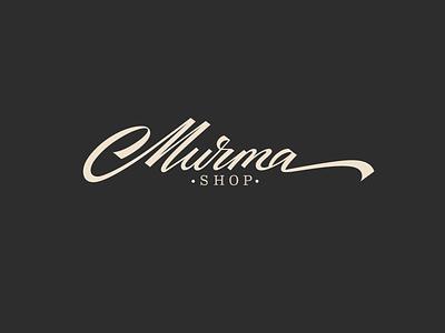 Murma pinterest graphic design sophisticated classy identity personality unique logomaker logodesigner branding fashion logo custom calligraphy script flow type lettering