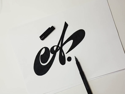 A interesting handwritten 36daysoftype unique flow goodtype brushlettering video process a script design logo custom calligraphy lettering