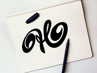 H brushlettering type brush personality identity fashion branding graphic design logodesigner wordmark h unique process logolearn video custom calligraphy script flow lettering