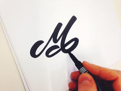 M mark m letter loop simple flow type custom lettering cars longboards