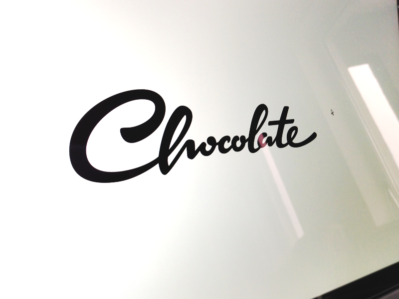Chocolate  logo script handlettering vectors process custom chocolate type design flow