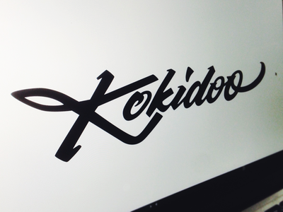 Kokidoo flow. custom rock n roll western shoes kokidoo type lettering logo