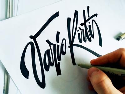 Vario Kirtis specific script custom flow type kirtis vario lithuanian logo