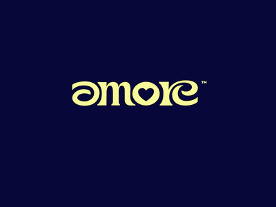 amore luxury branding lettering script logo smart idea flow solid love amore