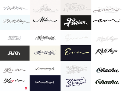 Logo process handwriten identity collection script type brush illustration vector unique design branding custom calligraphy handtype process logo howto logolearn lettering behance