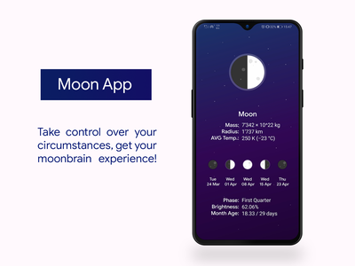 Moon App mobile ui application android the magicians phase moon app
