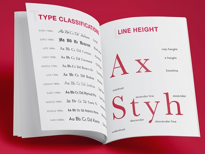 Typography Manual classification font-family line-height manual fonts typography