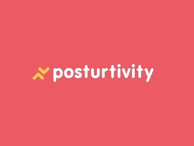 Posturtivity Logo vector design mark branding typography logo identity brand