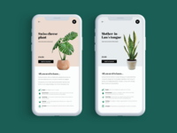 Mobile UI for Houseplant Store
