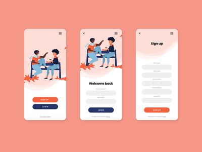 Daily UI | Login page brand ux mobile design web graphics interface design xd vector illustraion web design ui website design