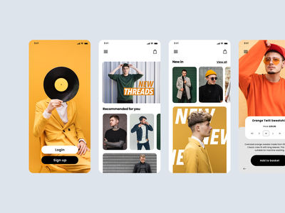 Mens Fashion App UI fashion brand photography typography ux ui app fashion app web ui fashion brand