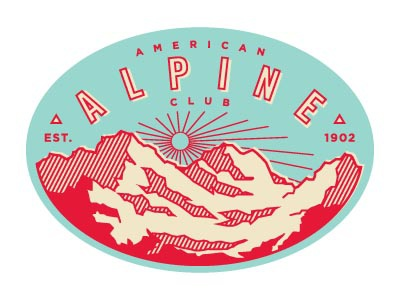 AAC3 mountains american alpine club climbing badge patch