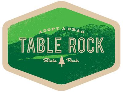 Adopt A Crag south carolina preservation state park badge rock climbing