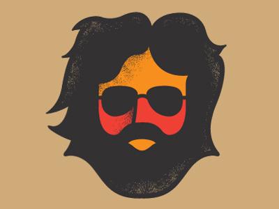Jerry jerry garcia grateful dead merch hippie portrait beard