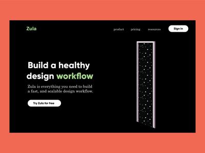 Zula - Landing page