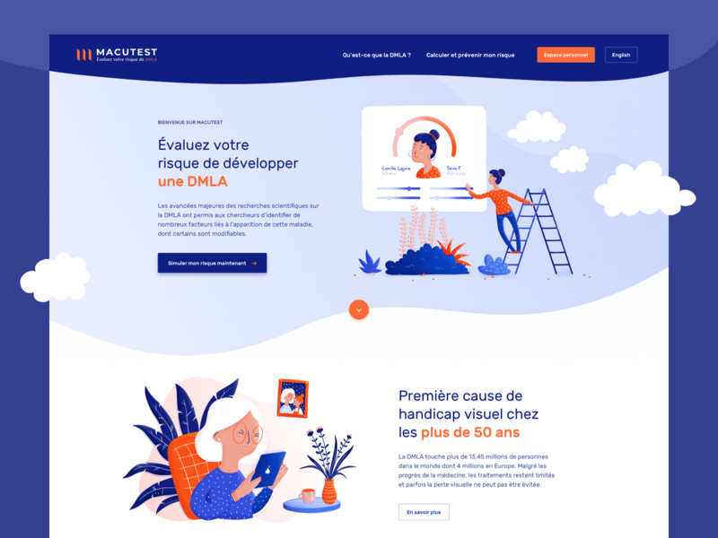 Scientific research website illustration ux ui sketch app website sketch