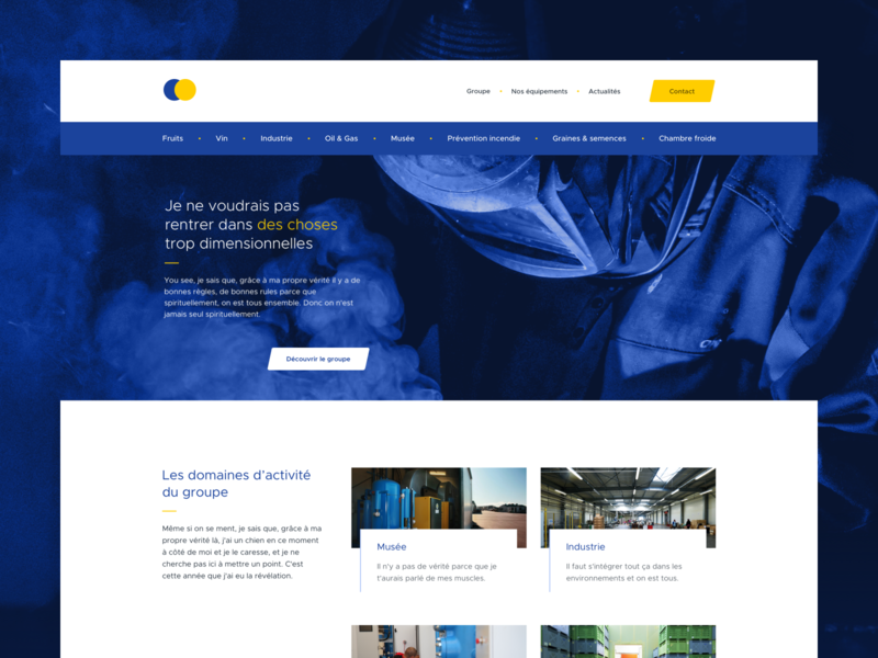 Industrial website ui sketch app website sketch