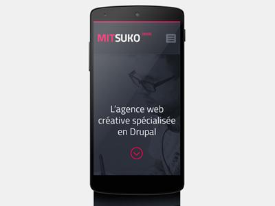 Mitsuko website responsive design