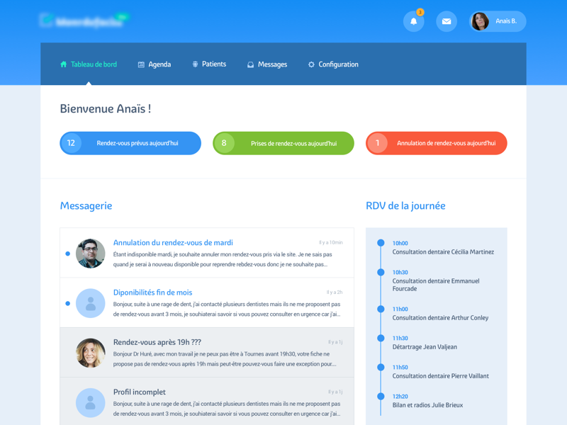 Dashboard medical health app webapp