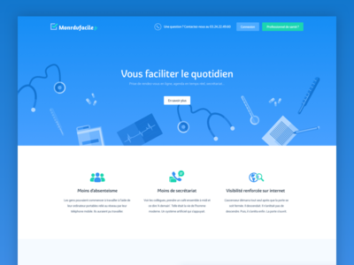 Medical landing page web app health landing