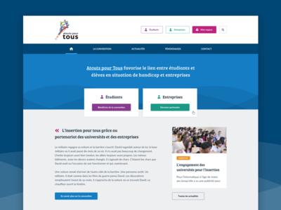 School website project sketch web app webapp app video homepage school student call to action ux ui website