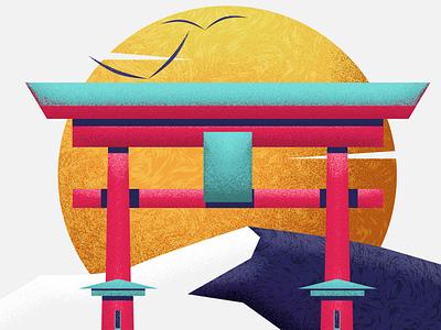 Torii branding vector illustration design 2d motion
