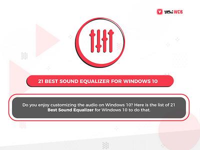 21 Best Sound Equalizer For Windows 10 app icon logo typography ux vector branding ui illustration design graphic design