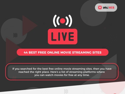 44 Best Free Online Movie Streaming Sites vector design graphic design
