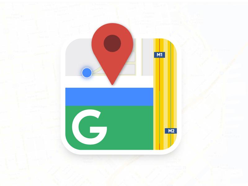Google Maps Icon By Abhinav Gupta