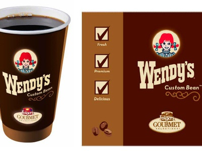 Wendys Coffee advertising branding graphic design design packaging design