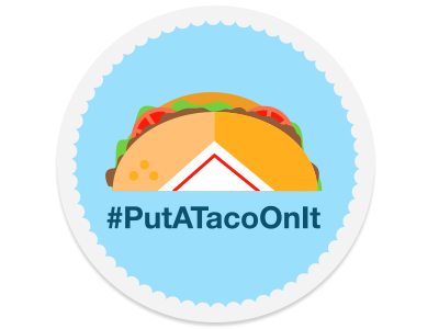 #PutATacoOnIt tacos design illustration sticker