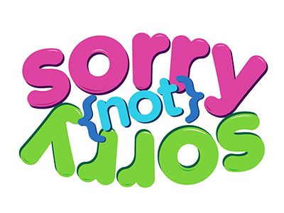 Sorry Not Sorry words type color graphic design design typography